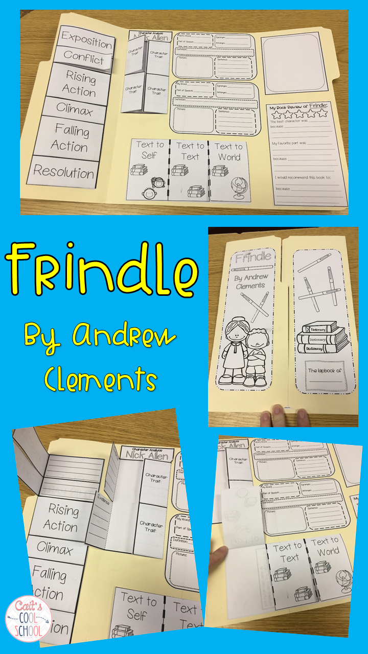 Frindle Lapbook for Novel Study Frindle Word map and Character trait