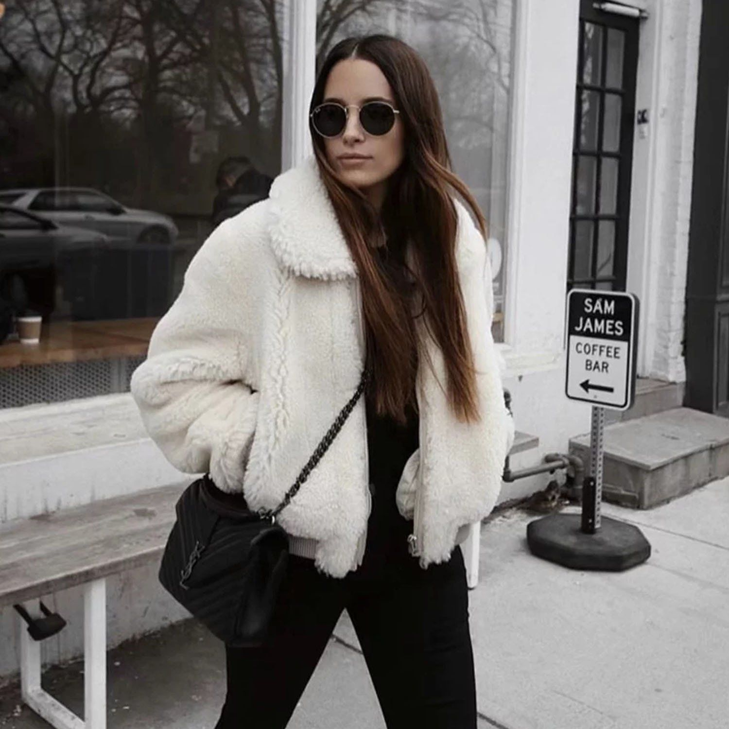 168249b4 Get the coziest coat with 10% OFF code WELCOME now! #winter #warm #jacket  #fall. crop teddy coat zip up cropped faux fur teddy bear jacket winter  outfits ...