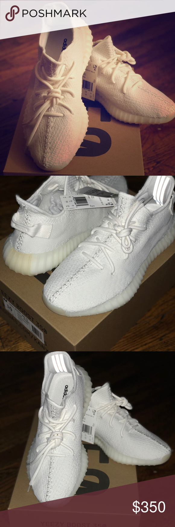 19ab35be23ff6b Adidas Yeezy Boost 350 V2  Triple White  Sz.10 BRAND NEW DEADSTOCK SIZE