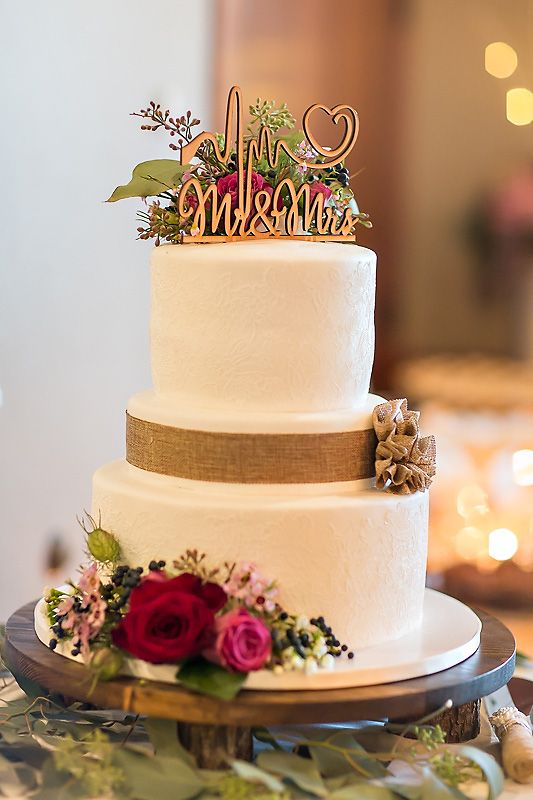 Awesome wedding cake for two nurses by Tiffany Brubaker Photography ...