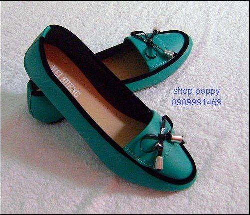 Giày búp bê _ màu xanh _ 4 USD