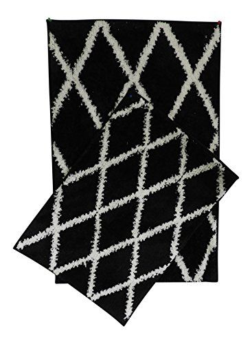 2 printed bath rug set bathroom mat non slip bottom st