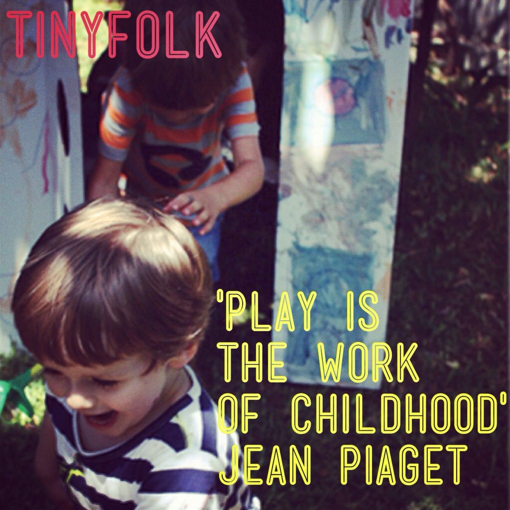 """Play is the work of childhood."" I have always loved this ..."