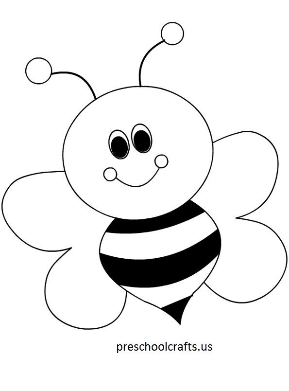 Bee Coloring Pages - Preschool and Kindergarten | line art ...