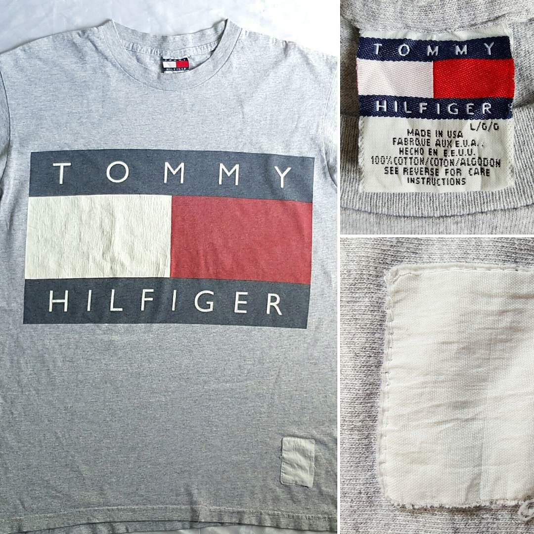 TOMMY HILFIGER BIG Spell out Flag Logo T-Shirt #tommyhilfiger #flaglogo #tommyflag #boxlogo #spellout #tshirt #tshirts #vintage #90s #vtg90s #hiphop #rap #aaliyah