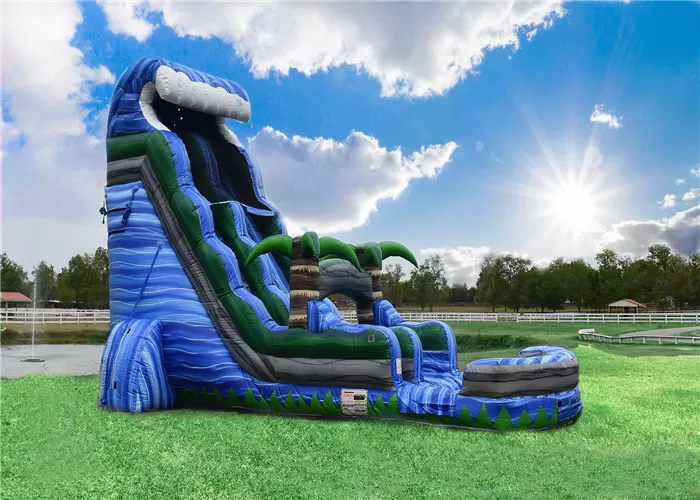 Professional Party Water Slide Jumper Fun Pool Side Popular Safe Ended Durable Water Slides Cool Pools Water Party