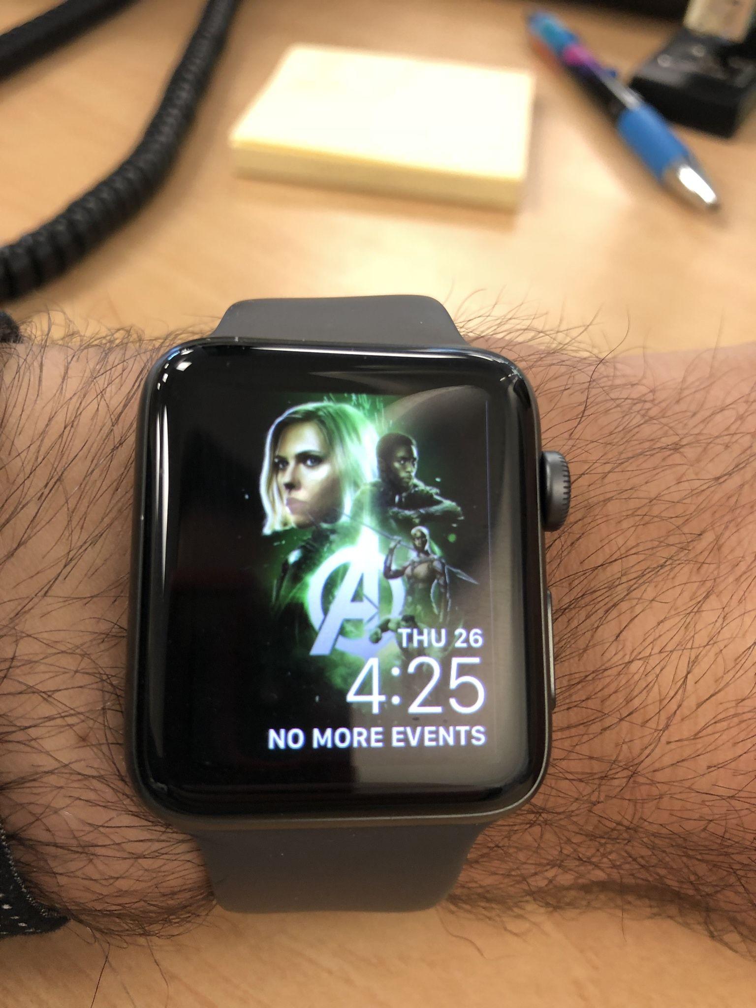 I made an infinity war apple watch face apple watch