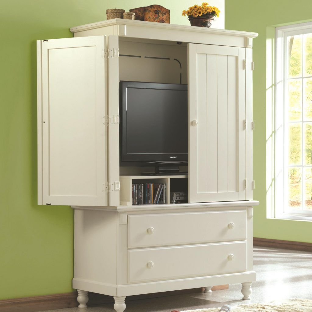 Homelegance Pottery 44 Inch TV Armoire In White What Is Included:TV Armoire  White Sand Through Cottage Collection Makes For A Great Retreat Look.