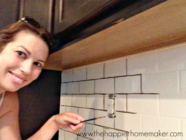 Changing Grout Color A Subway Tile Update Grout Color Bathroom