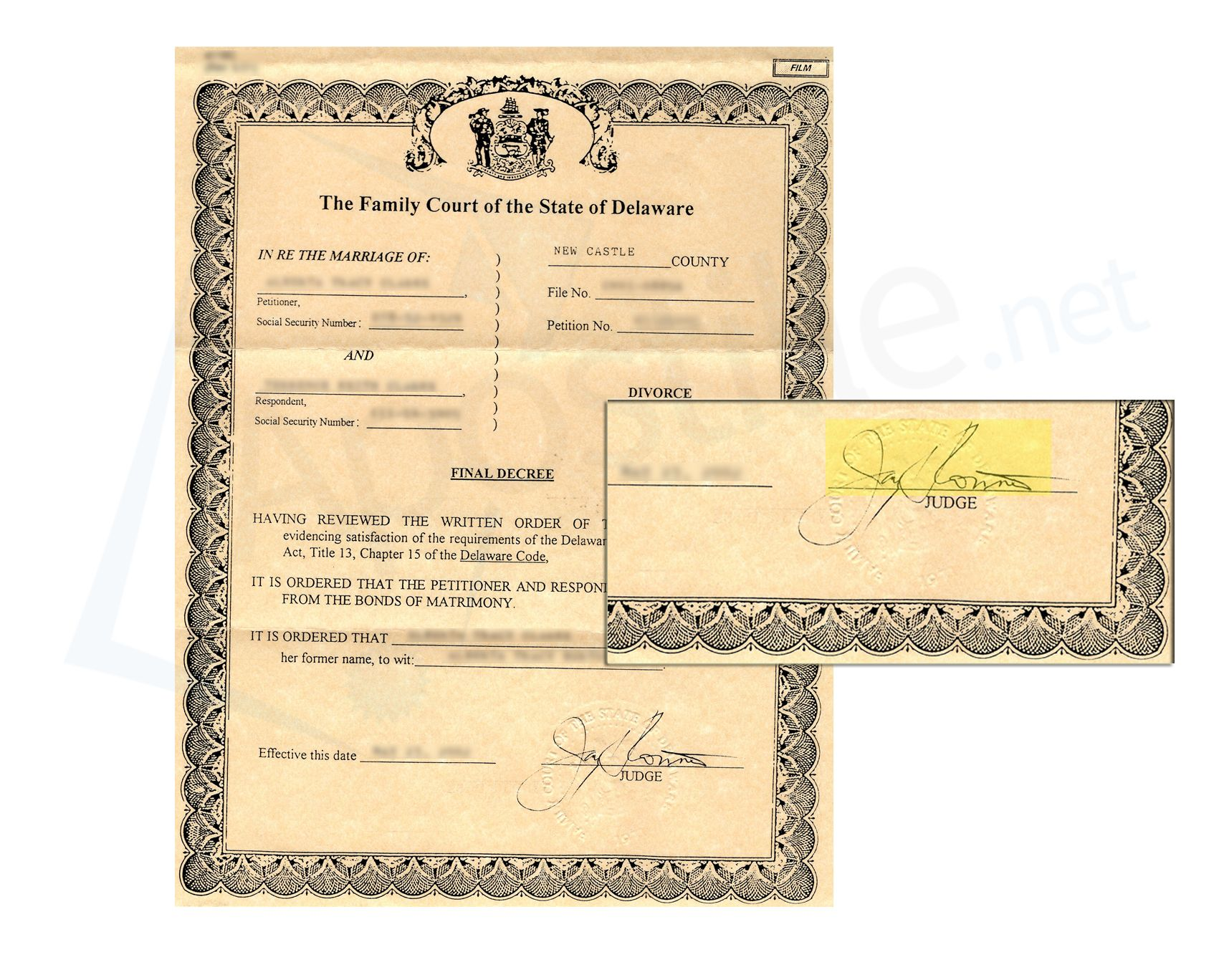 7 best state of delaware sample apostille images on pinterest xflitez Image collections