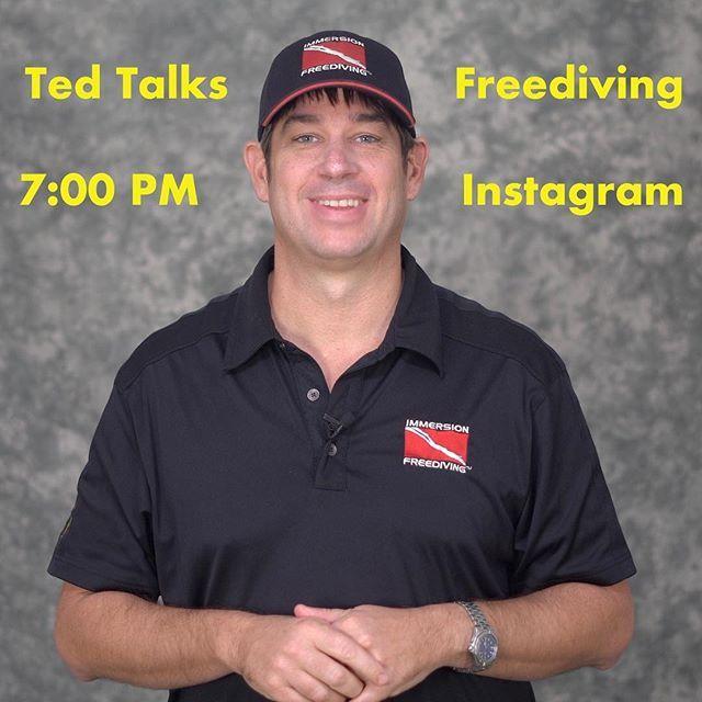 """Photo of Ted Harty Immersion Freediving en Instagram: """"El martes Ted habla sobre el buceo libre 8 de mayo a las 7pm EST EN VIVO en Instagram. . . ¿Tienes alguna pregunta que deba responderte? … """""""