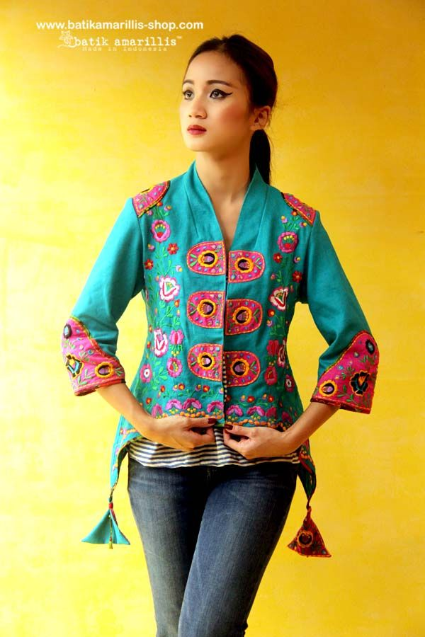 Directional Yet Demure Clothing For The Cool Modern Woman: Batik Amarillis's Arcana Embroidery Jacket Stand Out In
