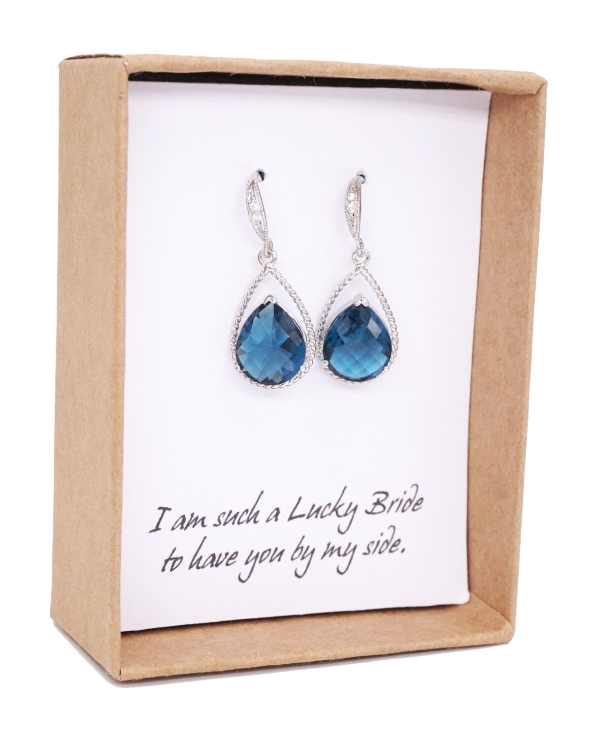 Mabel - Montana Blue Crystal Tear drops, Cubic Zirconia ear wire, gifts for her, blue wedding, Bridal Bridesmaid Earrings, Bridesmaids by GlitzAndLove on Etsy https://www.etsy.com/uk/listing/174070772/mabel-montana-blue-crystal-tear-drops