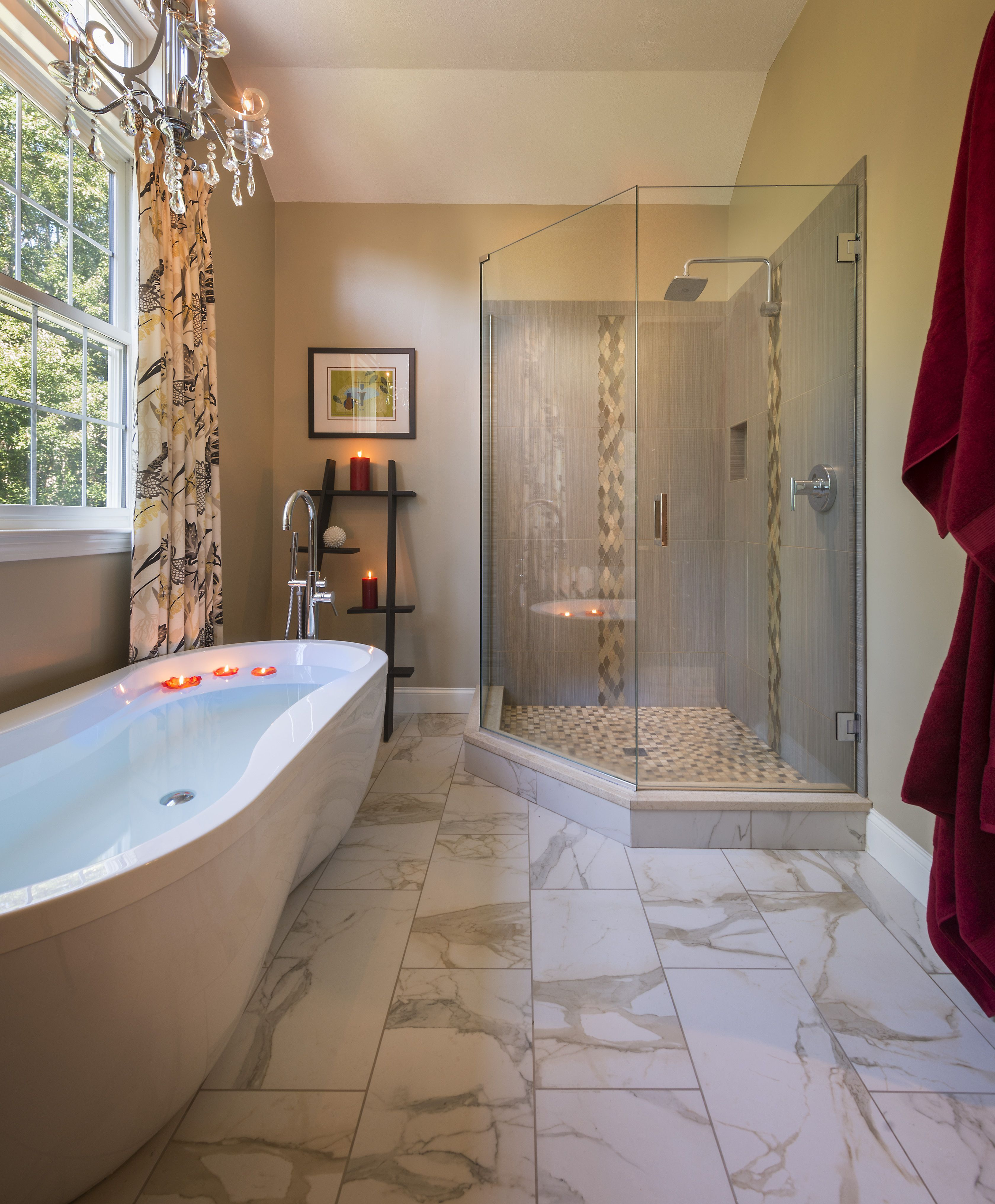 Take your pick, shower or tub...either way you\'re getting spoiled in ...