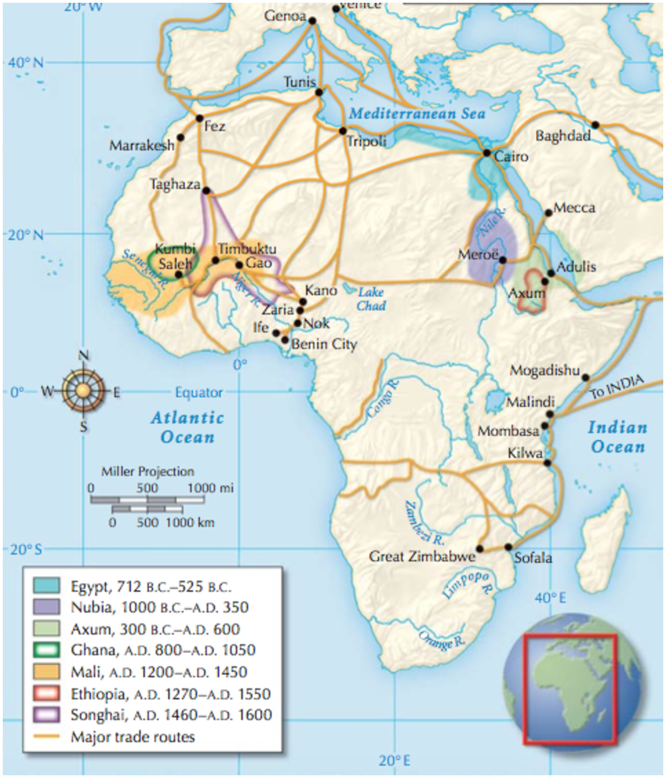 African kingdoms and trading states 1000 bc ad 1600 maps african kingdoms and trading states 1000 bc ad 1600 sciox Images