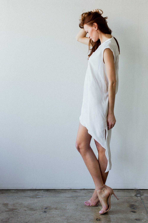 Bowery Dress // White | Neckline