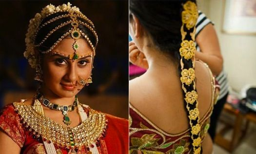 Traditional South Indian Braid-bride