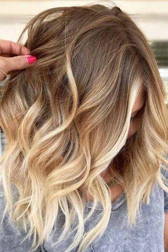 20 Strand Gewellte Frisuren Fur Mittellanges Haar In 2020 Schone Frisuren Mittellange Haare Frisuren Balayage