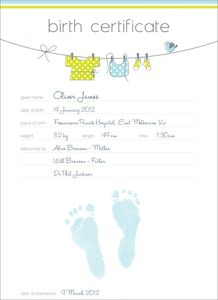 Baby keepsake birth certificate hand and footprint keepsake baby keepsake birth certificate hand and footprint keepsake commemorative birth certificate yadclub Image collections