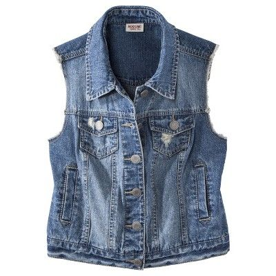 c3ce7eb22a Mossimo Supply Co. Juniors Sleeveless Denim Vest...   Target Mobile ...