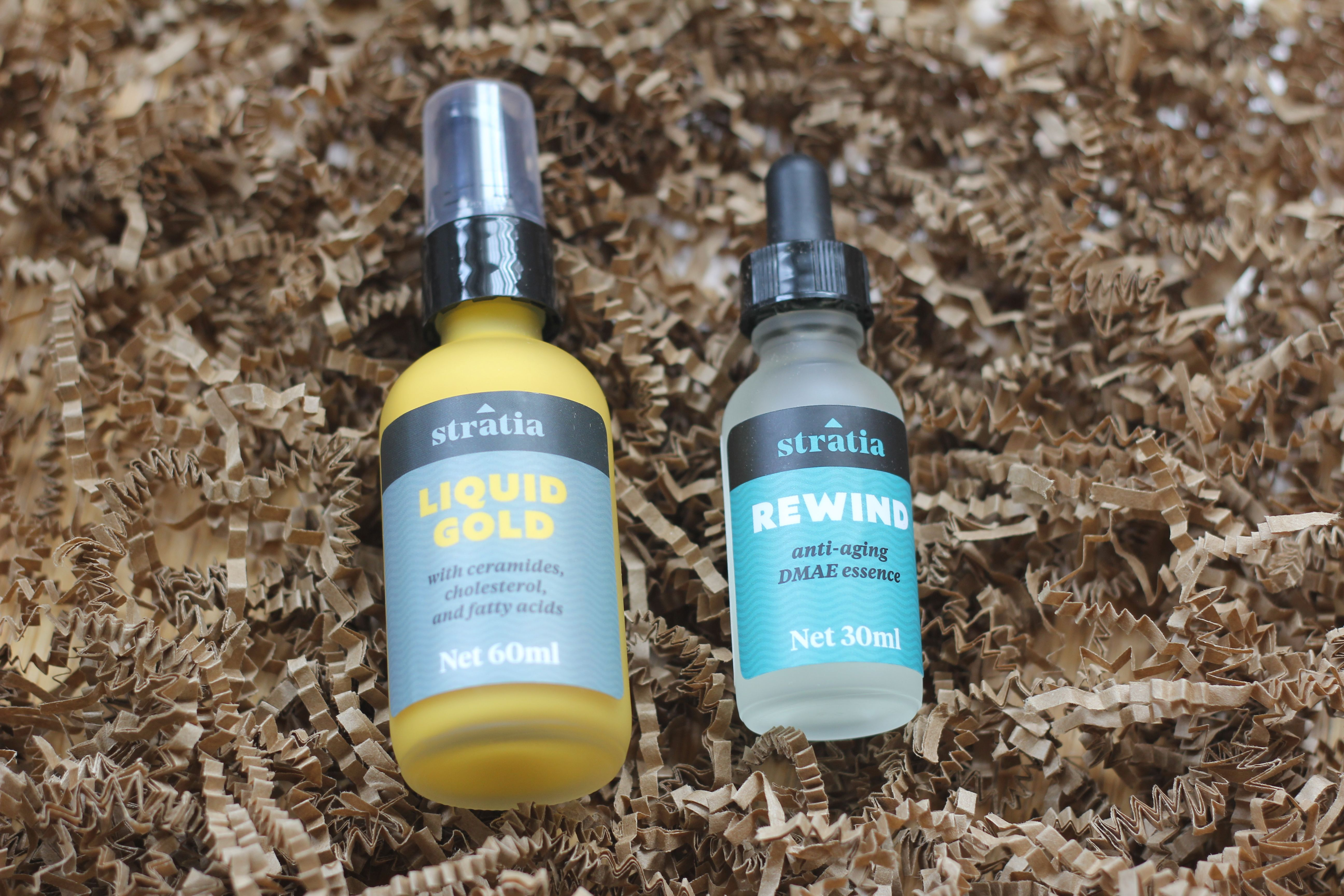 Product Review Stratia Liquid Gold Asian skincare, Gold