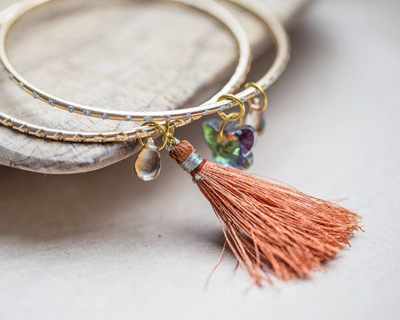Hey, I found this really awesome Etsy listing at https://www.etsy.com/listing/231548069/stacking-bangles-tassel-charm-bracelets