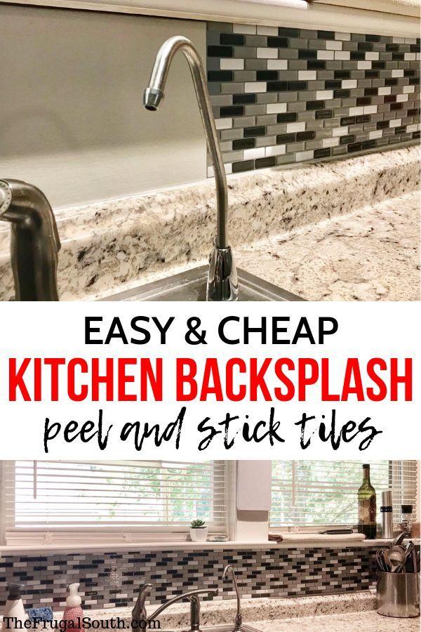 Diy Peel And Stick Backsplash Review Steps Cheap Kitchen Backsplash Diy Backsplash Diy Kitchen Backsplash