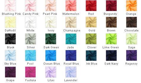 Color chart jjshouse com pearl pink clover sage lilac lavender