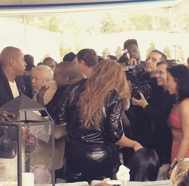 Beyoncé & Kim Kardashian At Roc Nation Pre - Grammy Brunch 07.02.2015