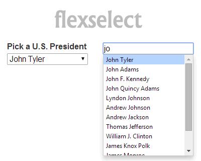 flexselect – jQuery plugin for Flex-Matching Incremental-Finding