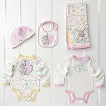 1a7176e167026 Target - Disney's Dumbo 5 Piece Layette Set - Pink Baby Dumbo, Dumbo  Nursery,