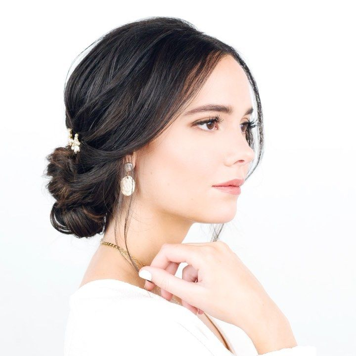 """Stephanie Brinkerhoff on Instagram: """"There is a new hair tutorial up on my online courses site for this side chignon. Link in bio to check it out! #hairandmakeupbysteph…"""""""