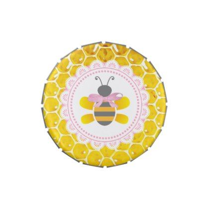 Baby Shower Bumblebee Honey Bee Candy Tin Favors