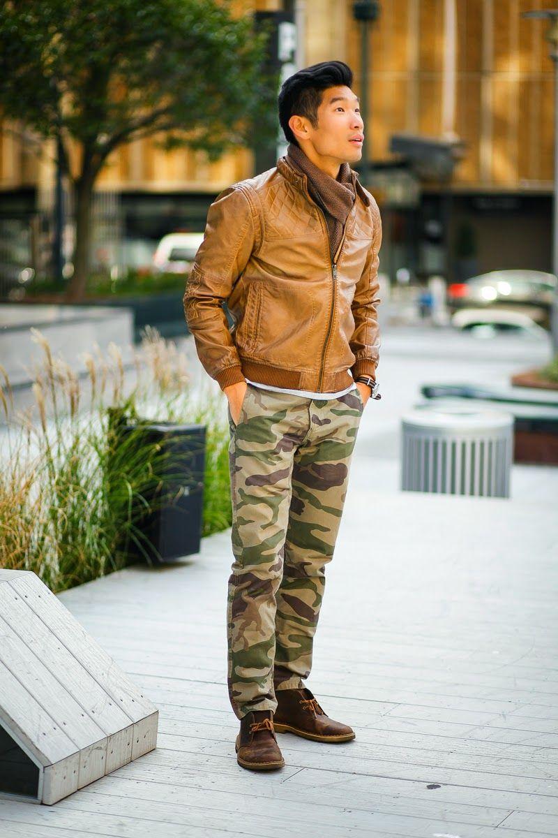 Camo Dockers Leather Jacket Men Camo Fashion Mens Fashion Fall