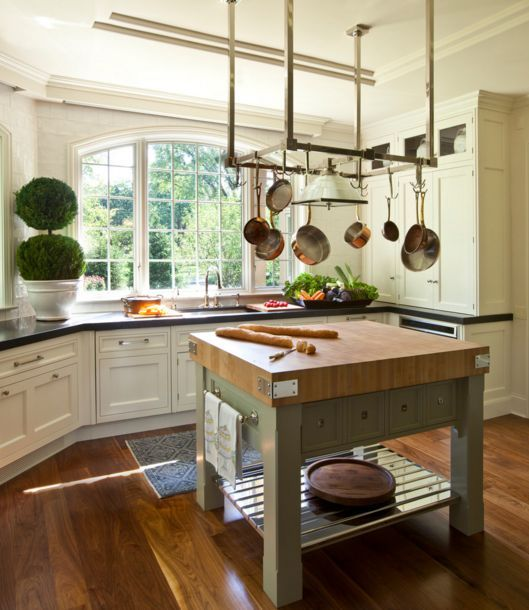20 examples of stylish butcher block countertops kitchen - Small butcher block island ...