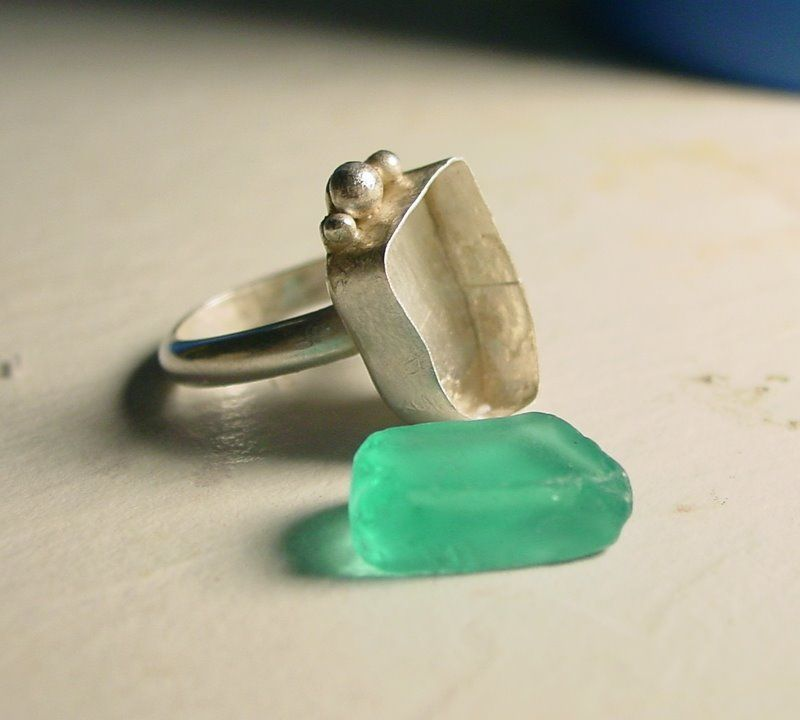 Make Your Own Sea Glass Ring Crafts Pinterest Glass