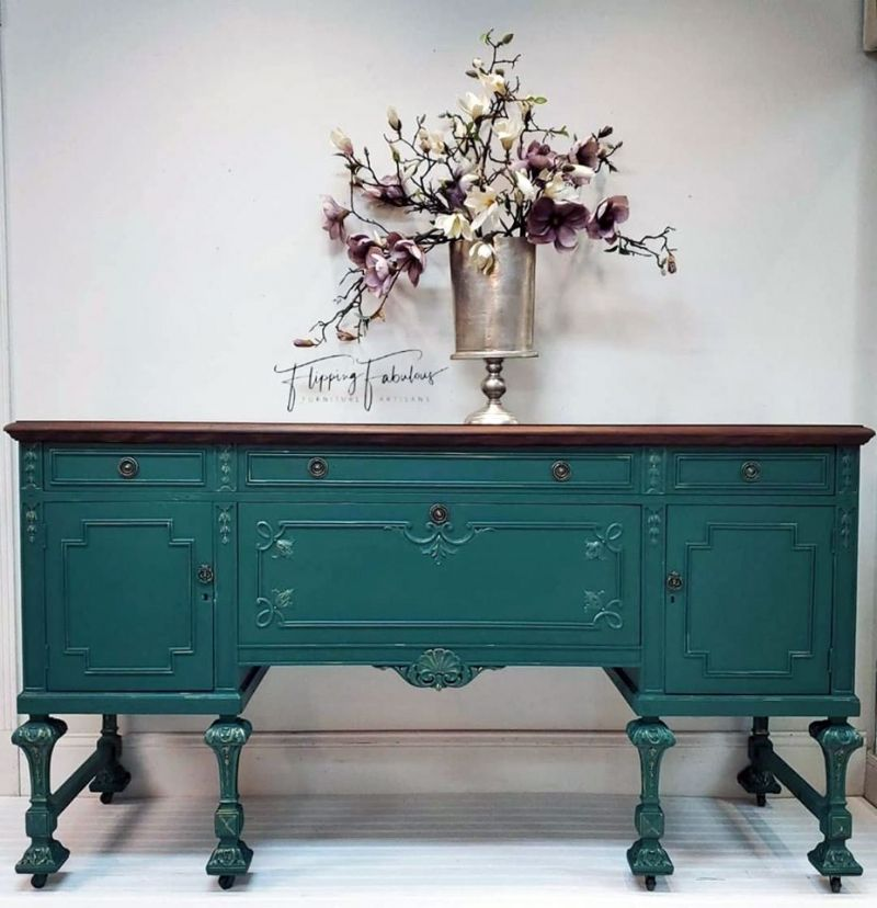 Westminster Green Buffet Green Painted Furniture Staining Furniture Milk Paint Colors