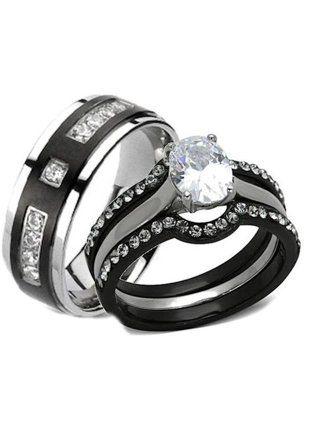 Womens Jewelry Walmart Com Titanium Wedding Rings Black Wedding Ring Sets Wedding Rings Sets His And Hers