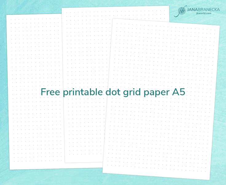 Dot Calendar Bullet Journal : Free printable dot grid paper a for bullet journal