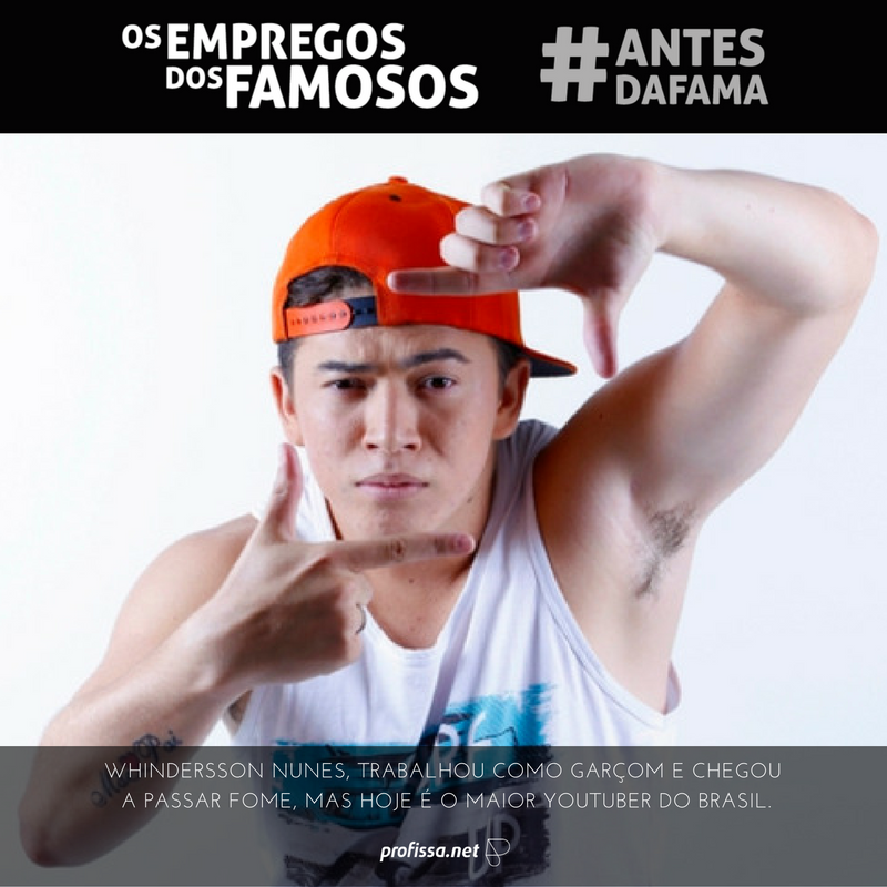 Whindersson Nunes, trabalhou como garçom e chegou a passar fome, mas hoje é o maior Youtuber do Brasil. www.profissa.net