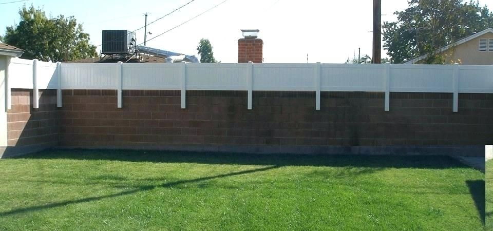 Vinyl Fence Extensions Wall Topper In Orange County Height Extension Kits Gate Latch Kit Fence Design Backyard Privacy Backyard