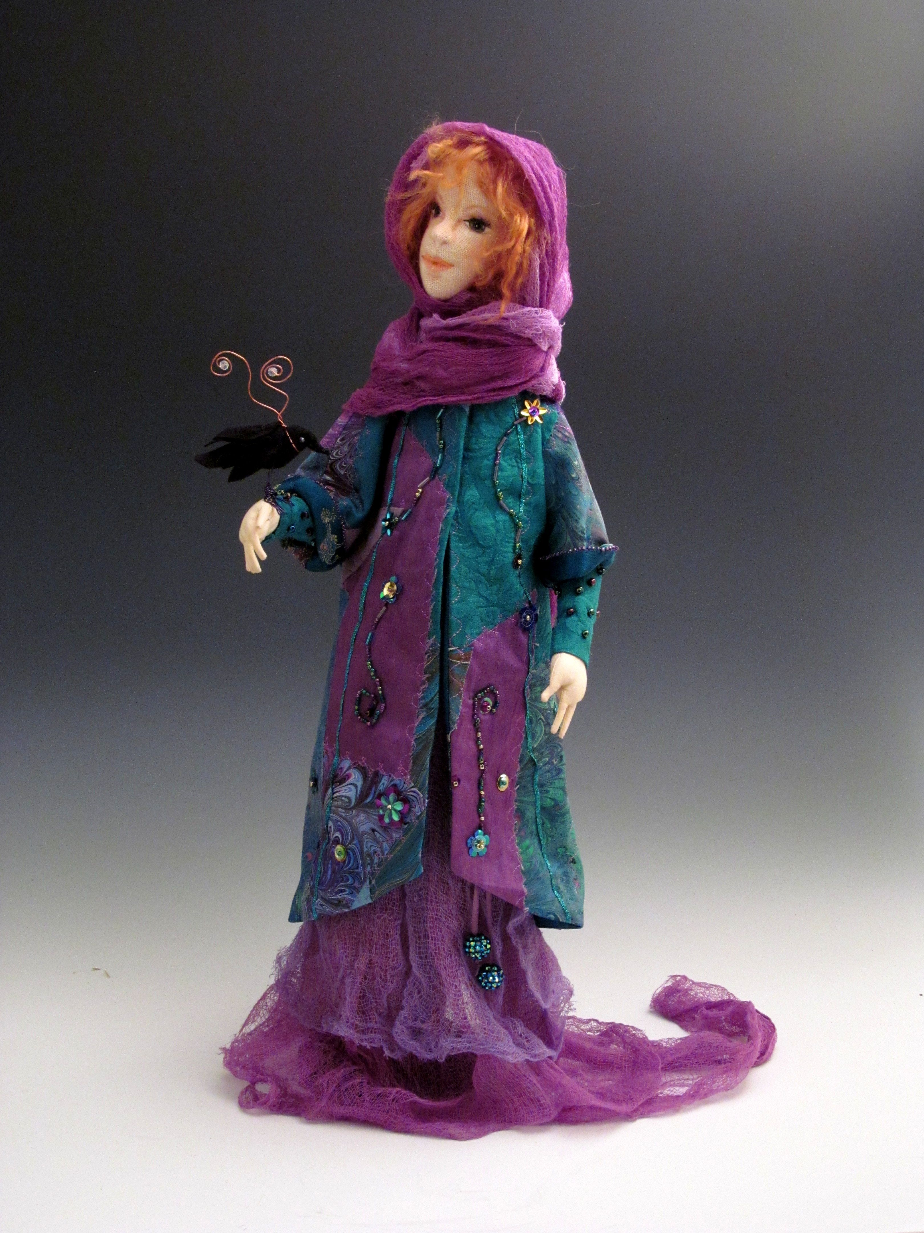 This Doll Is A Design By Angela Jarecki I Made It Taking An Online Class With Angela Art Dolls Doll Clothes Dolls