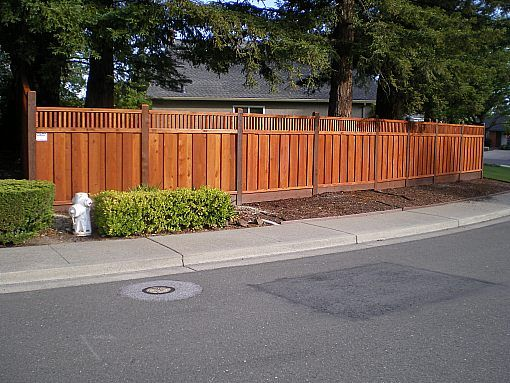 Redwood Fencing Style Choices From A And J