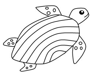 Easy To Draw Animals For The Young Or Old Turtle Drawing Easy