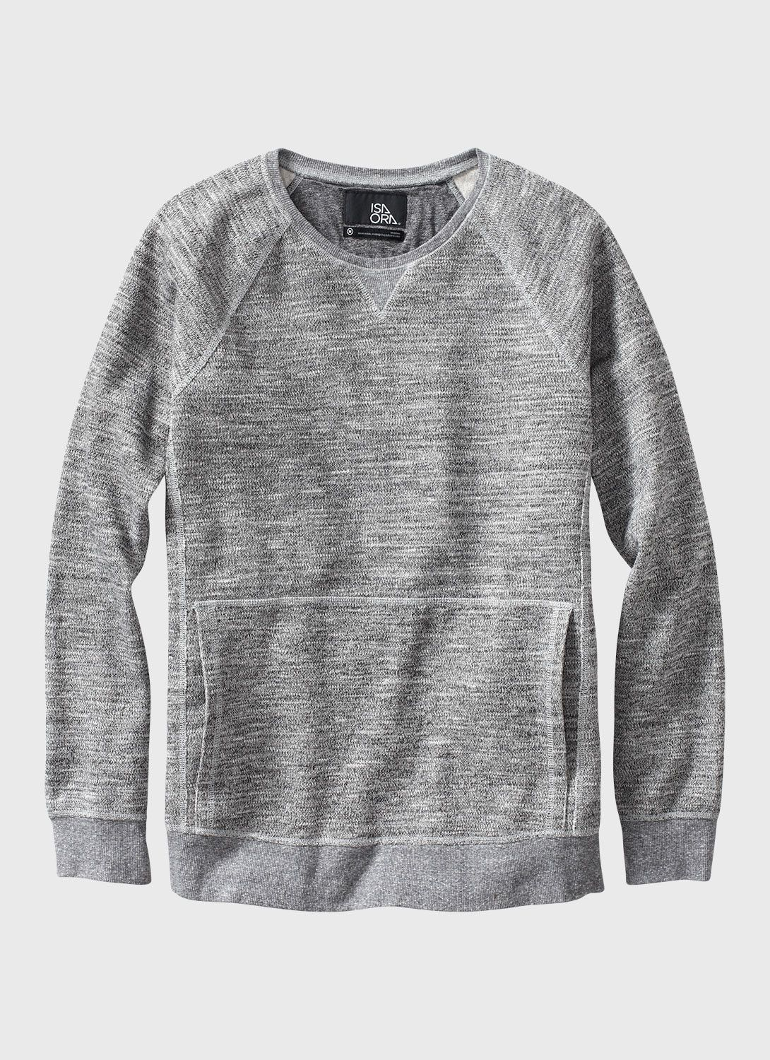 Crewneck Sweatshirt With Pocket | Fashion Ql