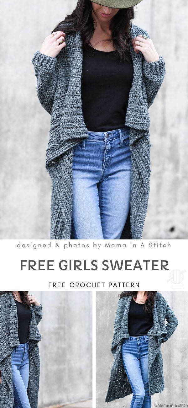 Free Girls Sweater Crochet Pattern