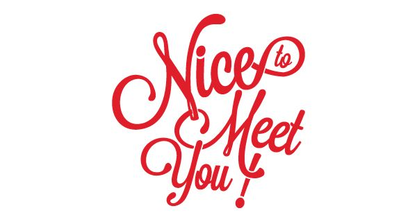 Nice To Meet You By Antonio Damore Via Behance Type