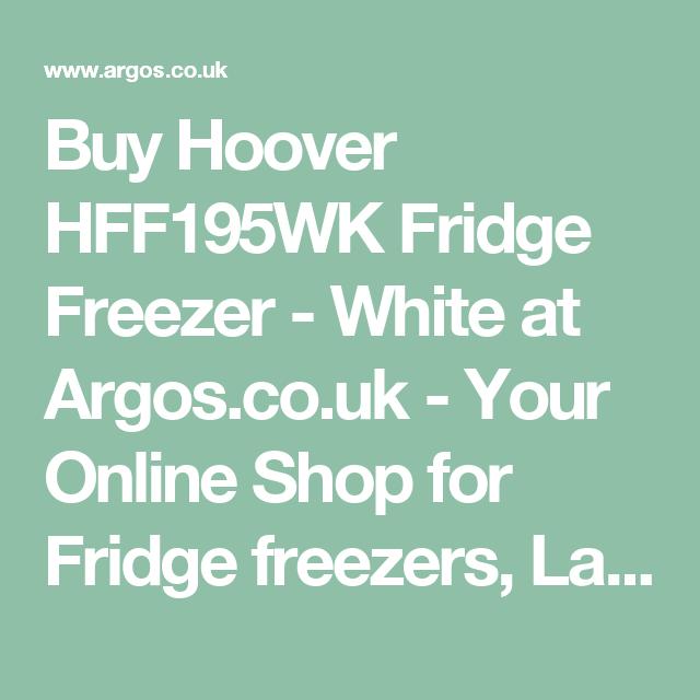 Buy Hoover HFF195WK Fridge Freezer - White at Argos.co.uk - Your Online Shop for Fridge freezers, Large kitchen appliances, Home and garden.