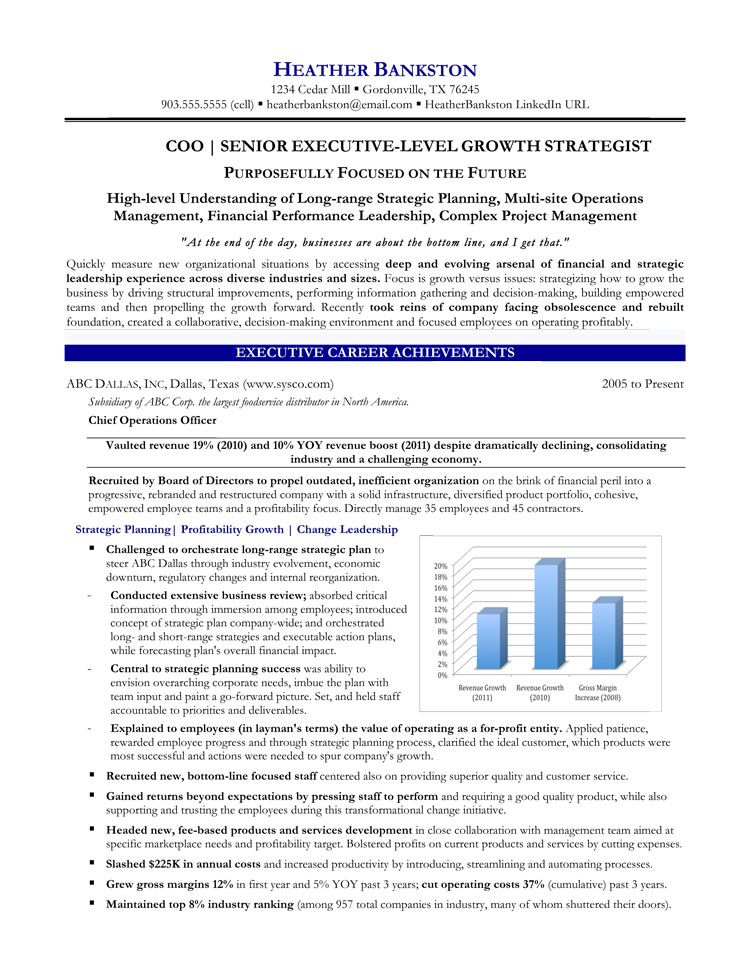 Chief Operations Officer Resume Latest Resume Format Resume Writing Services Chief Operating Officer Executive Resume