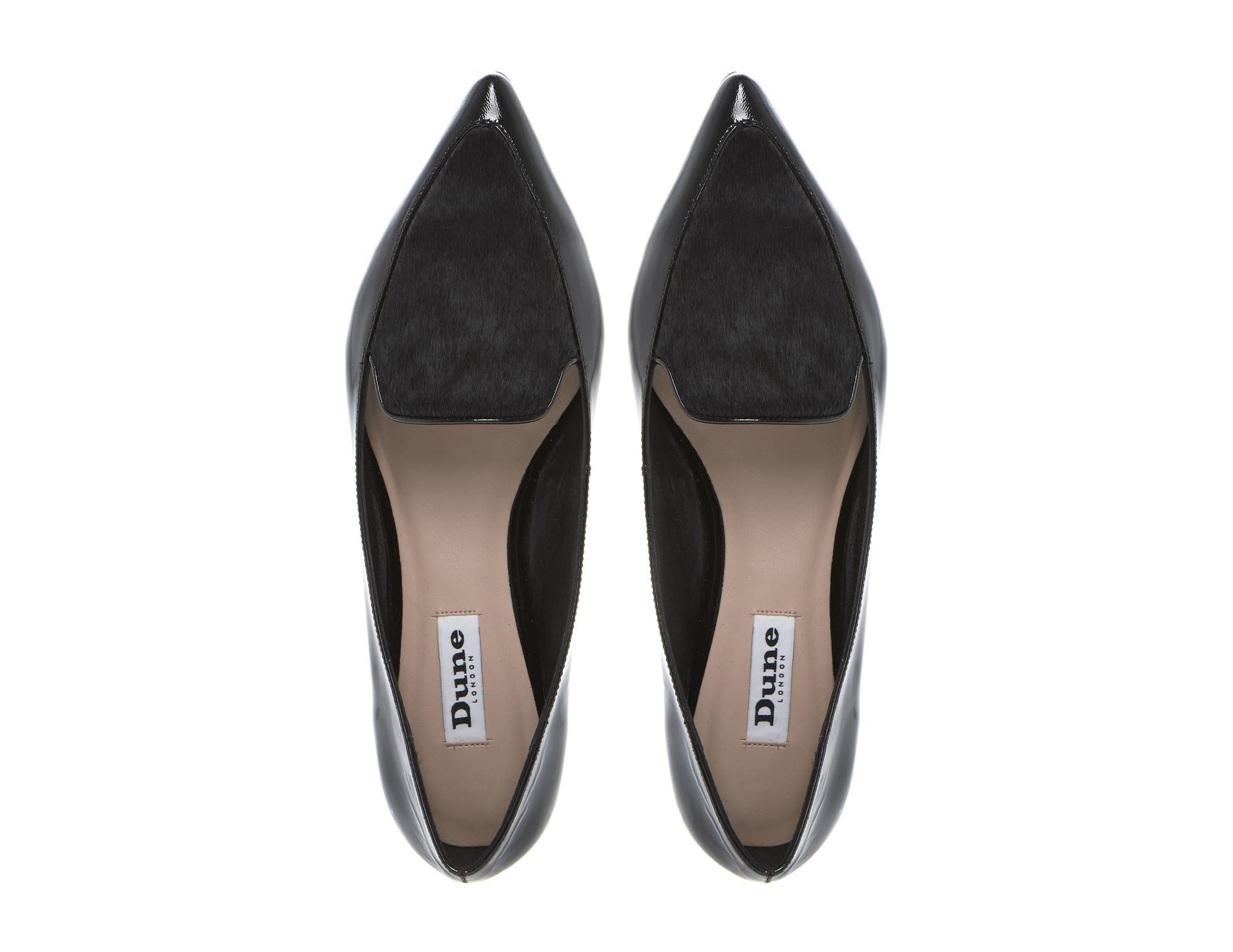 87ee8a21cba DUNE LADIES AUSTINE - Contrast Detail Pointed Toe Dressy Loafer - black